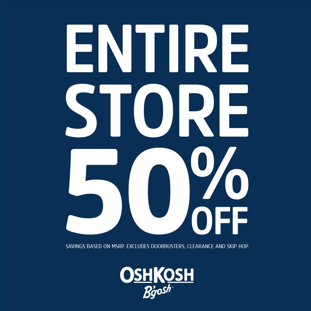 OshKosh Entire Store 50% OFF