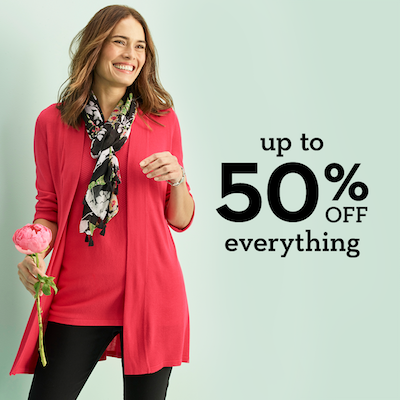 Up to 50% off Everything*