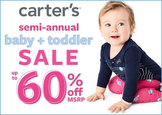 Carter's Semi-Annual Baby + Toddler Sale Up to 60% Off*