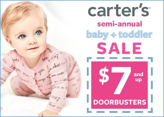 Carter's $7 and Up Doorbusters*