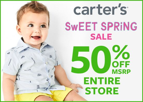 Carter's Sweet Spring Sale 50% Off* Entire Store