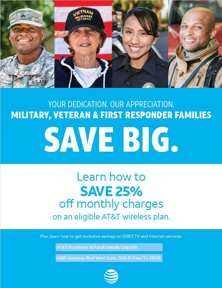 Military, Veteran & First Responder families SAVE BIG