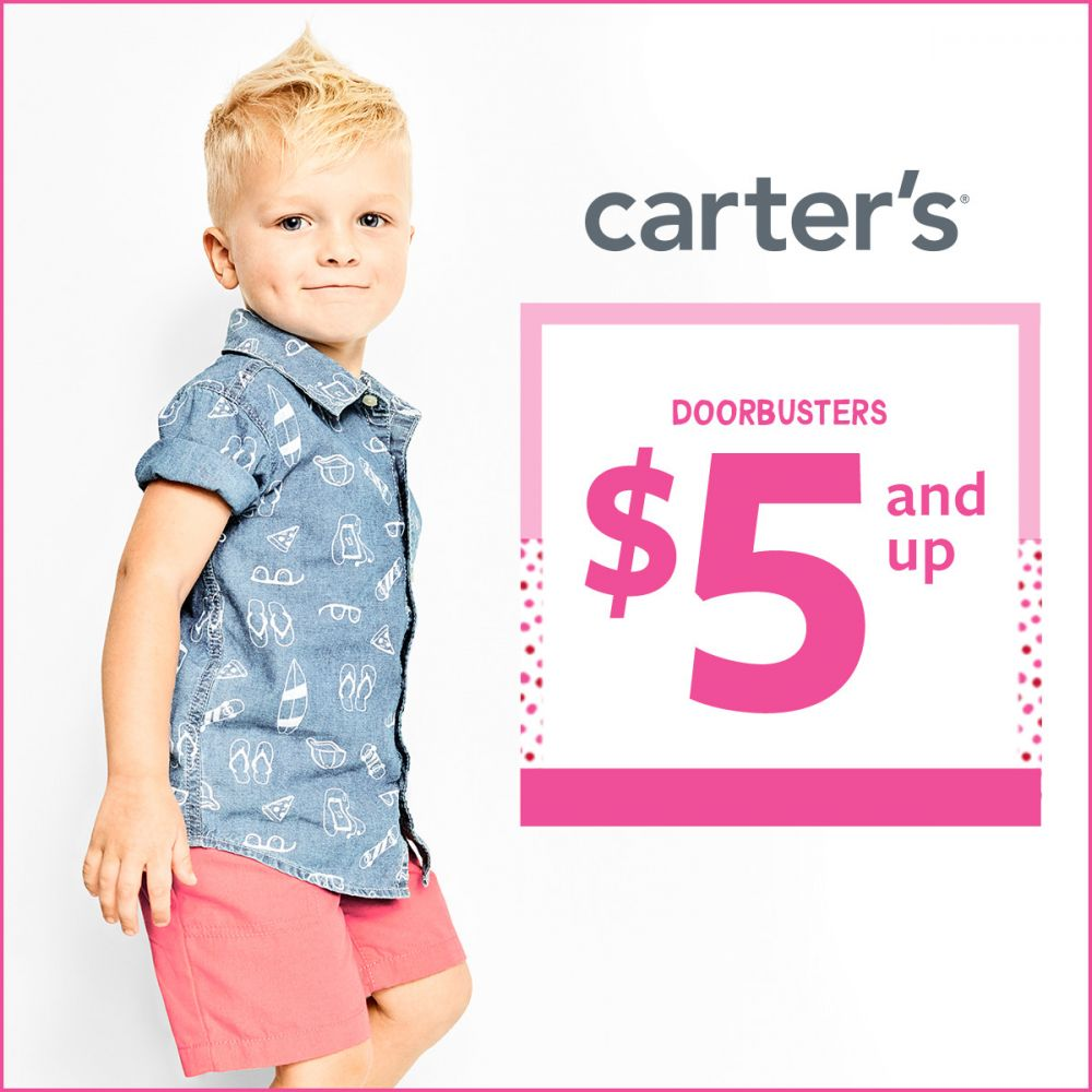 Carter's $5 and Up Doorbusters*