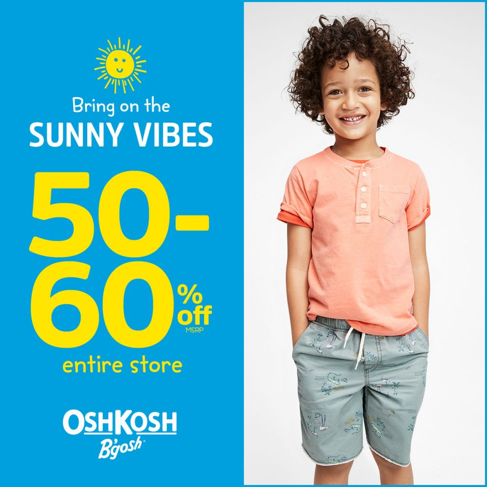 OshKosh Bring on the Sunny Vibes 50-60% Off* Entire Store