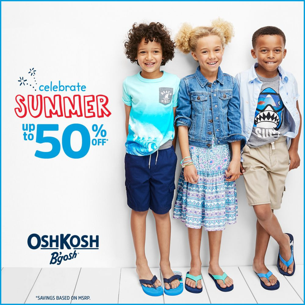 OshKosh Celebrate Summer Up To 50% Off