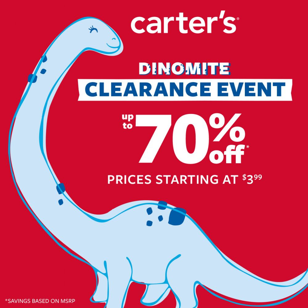 Carter's Dinomite Clearance Event  Up To 70% Off*