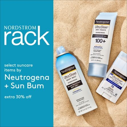 Extra Savings on Suncare at Nordstrom Rack