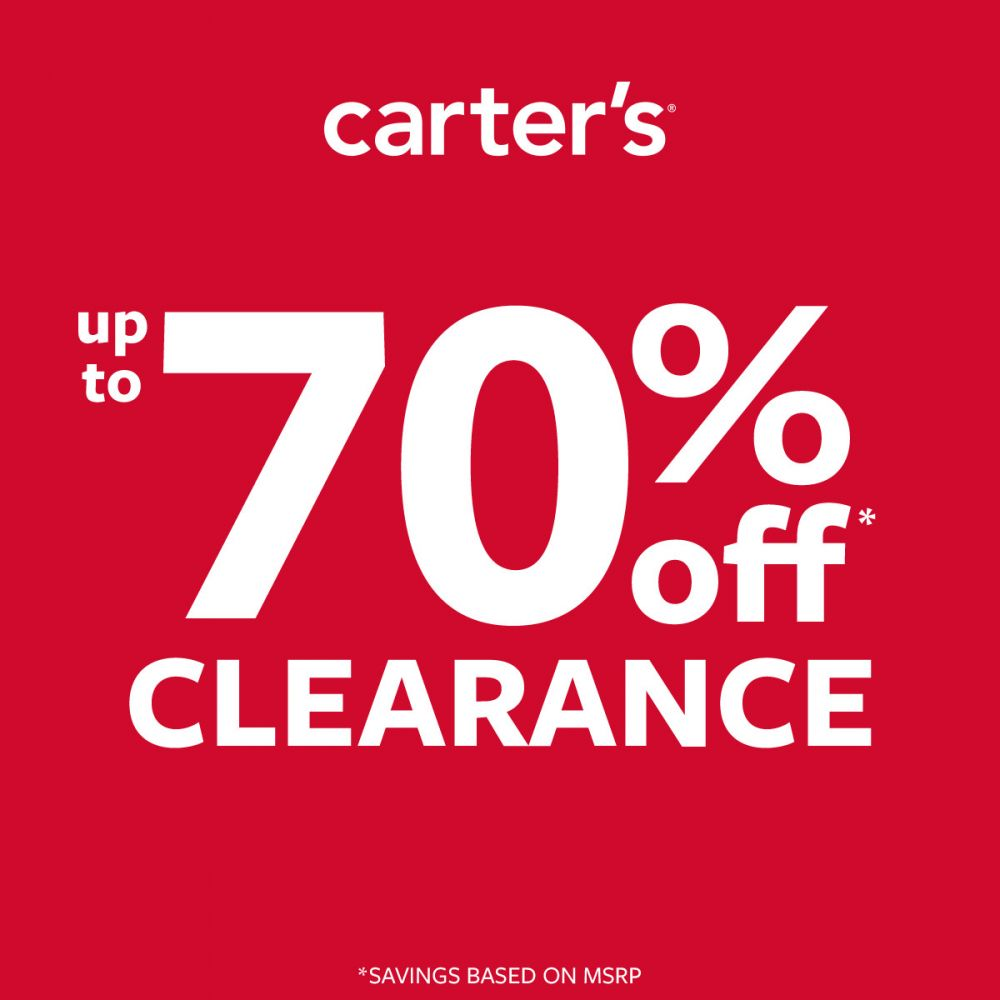 Carter's HANGIN ON TO SUMMER-UP TO 70% OFF CLEARANCE / NEW ARRIVALS UP TO 50% OFF