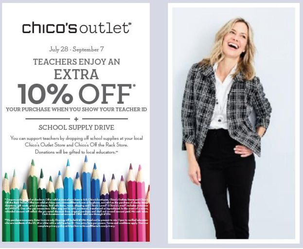 Chico's Off The Rack Teacher Appreciation Day!