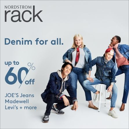 Denim for all, at Nordstrom Rack