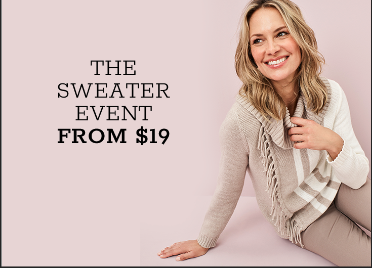 The Sweater Event from $19*
