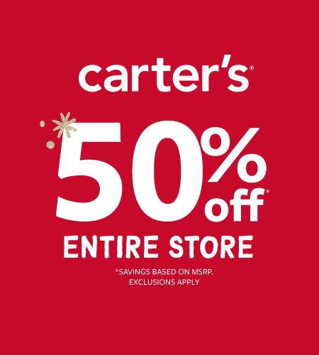 Carter's WHAT A GIFT! 50% OFF ENTIRE STORE
