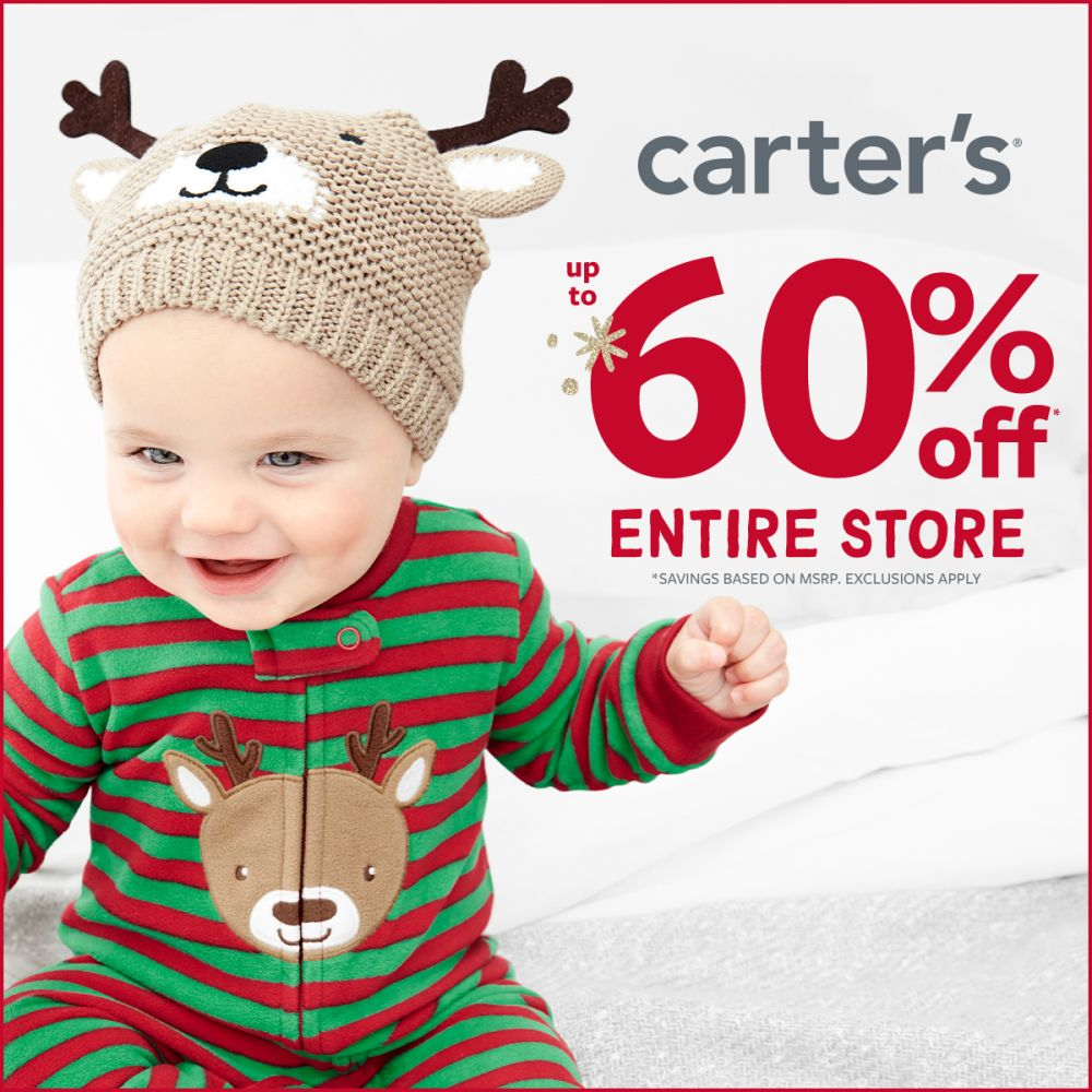 Carter's WHAT A GIFT! Up to 60% Off OFF ENTIRE STORE