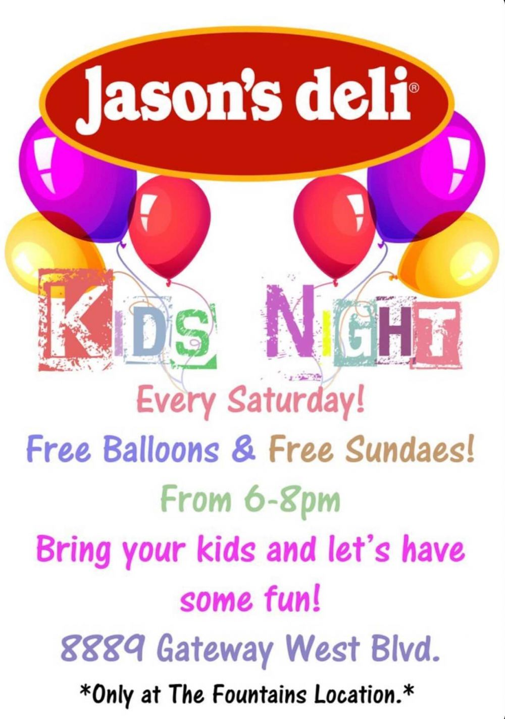 Jason's Deli Kids Night